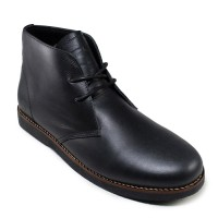 harga Sepatu Pria Sauqi Chukka Boots Black Kulit Casual Formal Kerja Kantor Tokopedia.com