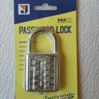 Gembok Password Pin 10 Angka/Digit