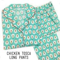 Baju Tidur Piyama Dewasa |Chicken Tosca Long Pants Pajamas