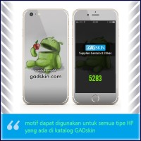 Garskin HP gambar Android Eat Apple stiker
