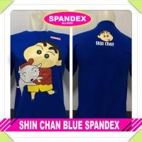 Murah Baju Kaos Distro Anime/kartun SHIN CHAN BLUE SPANDEX