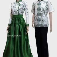 Couple batik sarimbit gamis pesta baju pasangan seragam CLPD 107