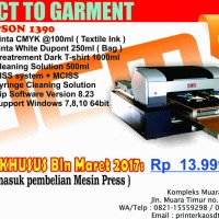 PRINTER DTG A3 KAOS GELAP TERANG EPSON 1390 / PRINTER KAOS DTG - BDG