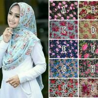 Kerudung Floral Instant Pet Amanda Mix/ Jilbab Bunga/ Hijab Floral