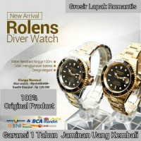 Jam Tangan Unisex Rolens Diver Watch Original