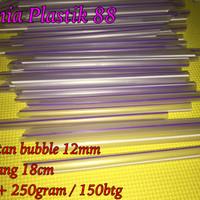 sedotan 12mm -/+ 250gram 155btg sedotan pop ice es bubble buble besar