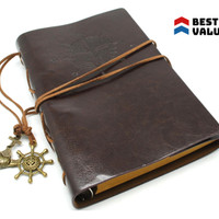 Buku Catatan Binder Kulit Retro Pirate / binder / note book / mewah