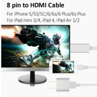8 Pin To HDMI Converter Adapter, MHL To HDMI Cable 1080P HDTV Limit