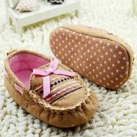BBB Sepatu Prewalker Bayi Brown Ribbon