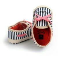 BBB Sepatu Prewalker Bayi Blue Strip Ribbon