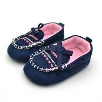 BBB Sepatu Prewalker Bayi Navy Ribbon