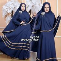 Ayana Syar''i Navy Gamis Murah Busana Muslim Syari Baju Muslim