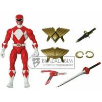 mainan toy BANDAI armored mighty morphin red ranger