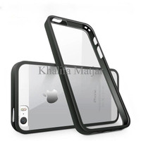 Promo iBuy iPhone 5, 5s 5 SE Bumper black Rubber Case With Clear Back