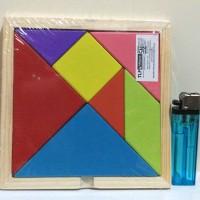 Jual Mainan tangram kayu / Mainan edukatif / puzzle kayu | Mainan tangram Murah