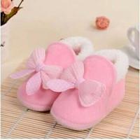 Sepatu Prewalker Bayi Perempuan Fluffy Ribbon Berkualitas