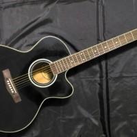 Gitar Akustik Cort Black Glossy