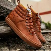Vans SK8 HI x Toy Story Brown Leather Sepatu Jalan Pria PREMIUM