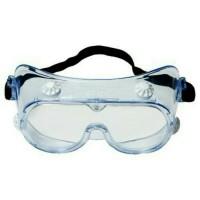 3M 334 Splash Safety Google Clear Anti-Fog-Kacamata Pelindung