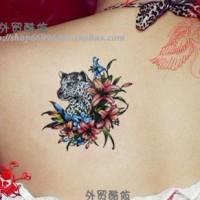 Leopard Flower - Temporary Tattoo / Tato Temporer