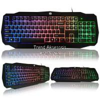 Sturdy TP809 Keyboard Gaming USB with Rainbow LED - Hitam