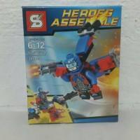 Jual Lego Bricks SY Marvel Heroes Avenger Superman Batman Flash Atom (4in1) Murah