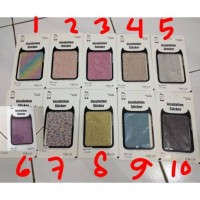 [DROPSHIPPER] Sticker Skin glitter Oppo Vivo Samsung Iphone xiaomi