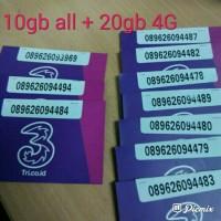 Perdana kuota internet tri 3 three aon 10gb 10 gb reguler 24 jam