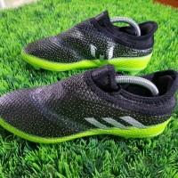 Sepatu Bola Adidas Messi X16+ PureAgality Dark Grey Solar Green