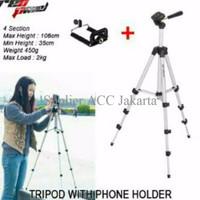 SPESIAL PROMO Tripod Weifeng WT-3110A + Free Holder U Handphone / HP W