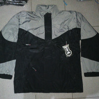 Jaket Gunung SIOUX Black-Cream Waterproof Malang