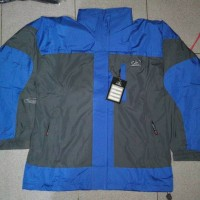 Jaket Outdoor / Gunung Sioux L-02 Grey- Blue Waterproof