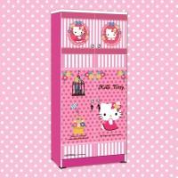 harga Lemari Pakaian Anak Karakter Hello Kitty Smile Heart Wd Hk 1801 Sh Tokopedia.com