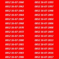 harga Nomor Cantik Kartu As Seri Tanggal Bulan Tahun Lahir 16 Juli / 16 07 Tokopedia.com