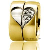FX Wedding Ring Silver / Cincin Nikah 18 k / Cincin Couple