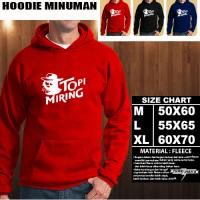 JAKET HOODIE MINUMAN Topi Miring Hoodie/Sweater/No Zipper