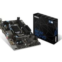 MSI B85M PRO VD (LGA1150, B85, DDR3) MURAH