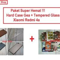 [PAKET] Hard Case Gea / Soft Case Gea + Tempered Glass Xiaomi redmi 4a