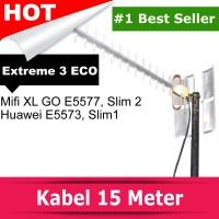 Antena Mifi XL GO Huawei E5577 Yagi Extreme 3 Eco - TS9 Dual Port