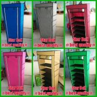 Jual Rak Sepatu Cover 10 Susun | rak portable tingkat shoes rack with cover Murah
