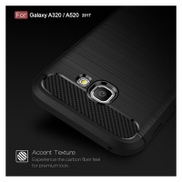 Viseaon Case Samsung Galaxy A320 A520 / A3 A5 2017 Carbon Fiber Casing