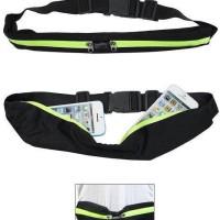 Sport Running Belt Double Pocket Tas Pinggang Olahraga