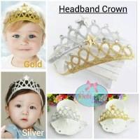 HeadBand Anak Baby Crown || Hiasan Rambut Mahkota Tiara Lucu Bagus