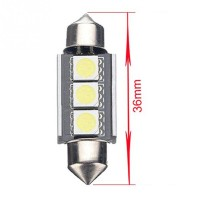 Lampu Interior Mobil LED Canbus 36mm C5W DE3423 3 SMD 1 DISKON
