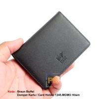 Jual Dompet kartu / card holder kulit asli Braun Buffel 1245.MGMG Hitam Murah