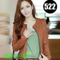 jaket semi kulit keren untuk wanita/99% bahan mirip kulit domba asli