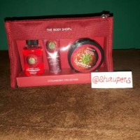 Jual Strawberry Gift Set Pouch The Body Shop Original Murah