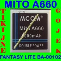 Baterai Mito A660 Fantasy Lite BA00102 MCOM M COM Batrai Batre Battery