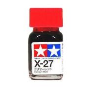 TAMIYA - X-27 Clear Red Enamel Paint 10ml