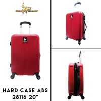 """Polo Milano Koper Hard Case ABS 28116 20"""" Red Cabin Sized"""